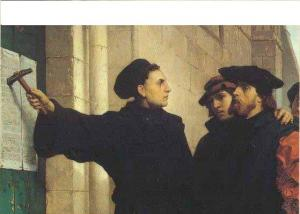 what was luthers intention of the 95 theses Five hundred years ago today, martin luther, an unknown monk in an insigificant village in germany, posted his 95 theses: his complaints against the pope and the church on the door of the .